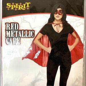 Spirit Halloween Red Metallic Cape